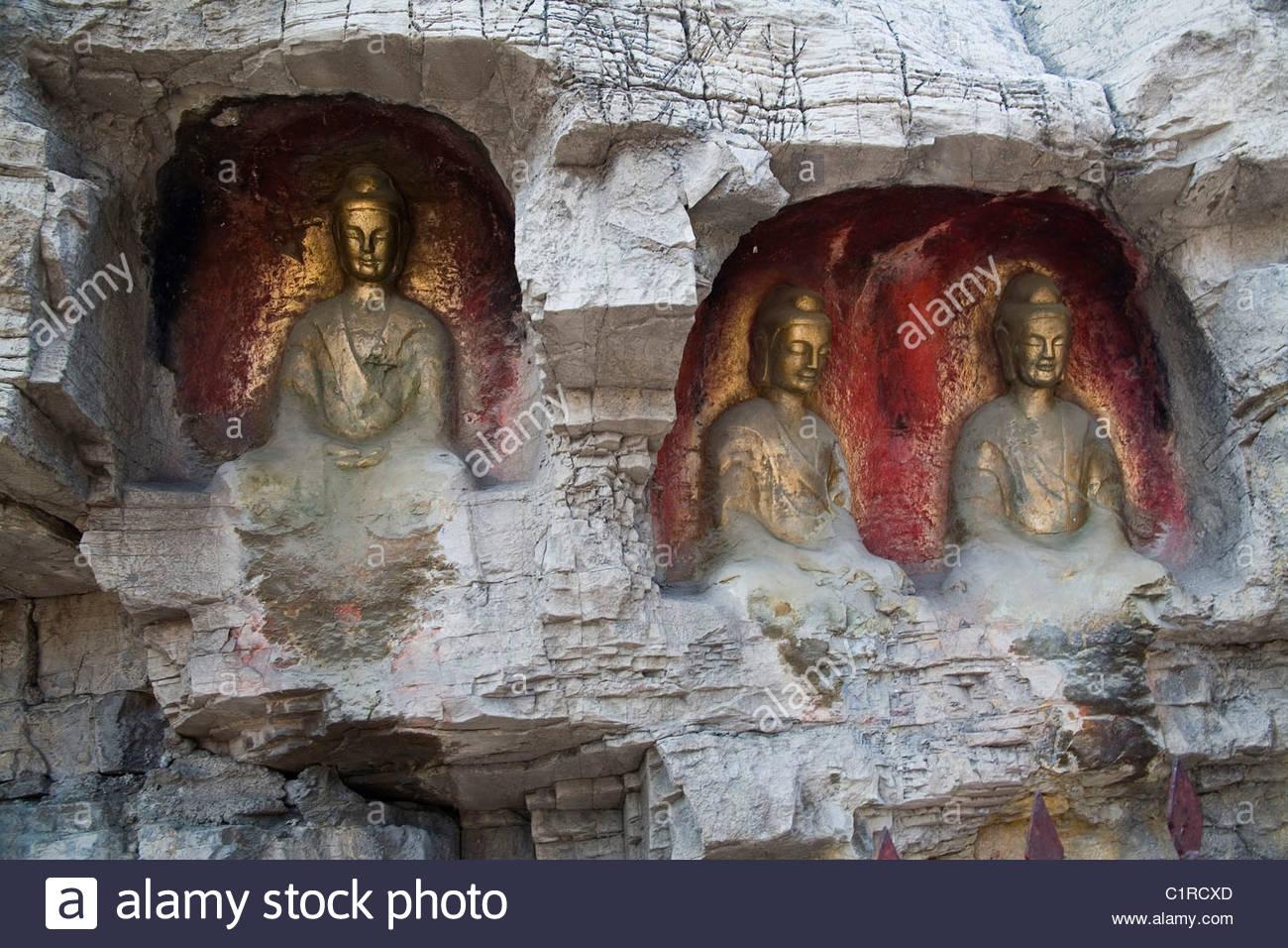 Thousand Buddha Mountain, Qianfo Mountain, Wan.