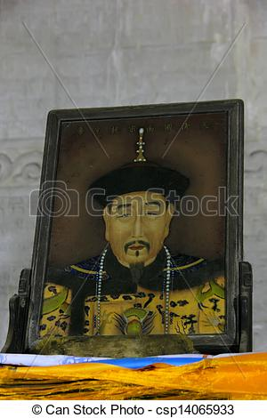 Stock Photos of Zunhua, May 13: Qian Long emperor portrait in the.