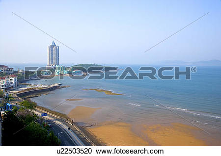 Stock Photography of China, Shandong, Qingdao, Huiquan Gulf Scenic.
