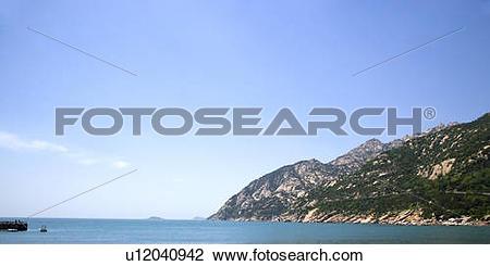 Stock Photo of China, Shandong, Qingdao, Mountain Lao Scenic Area.
