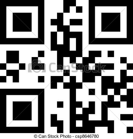 Vector Clipart of QR.
