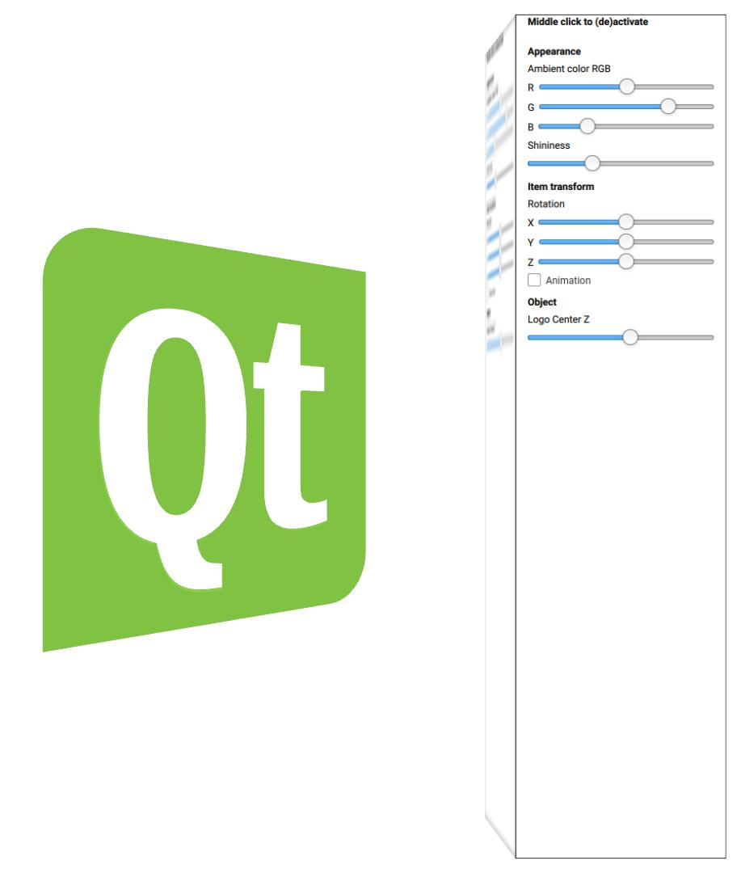 Qt 3D: Scene2D QML Example.