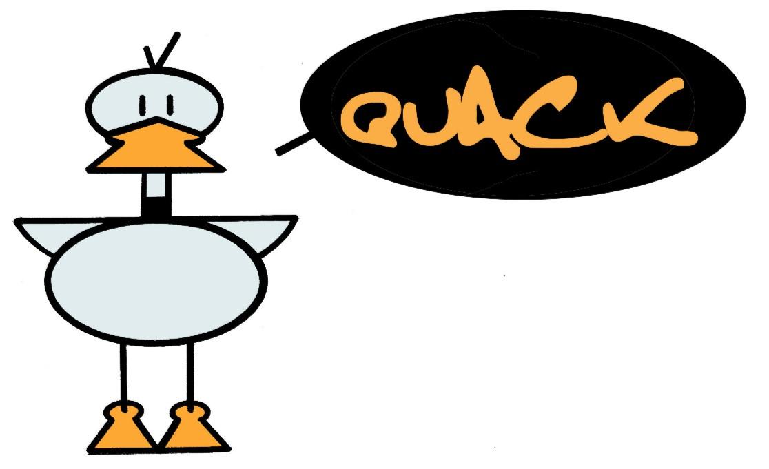 Quack Clip Art free image.