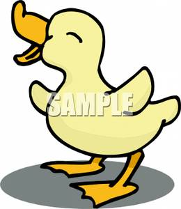 A Cheerful Yellow Duck.