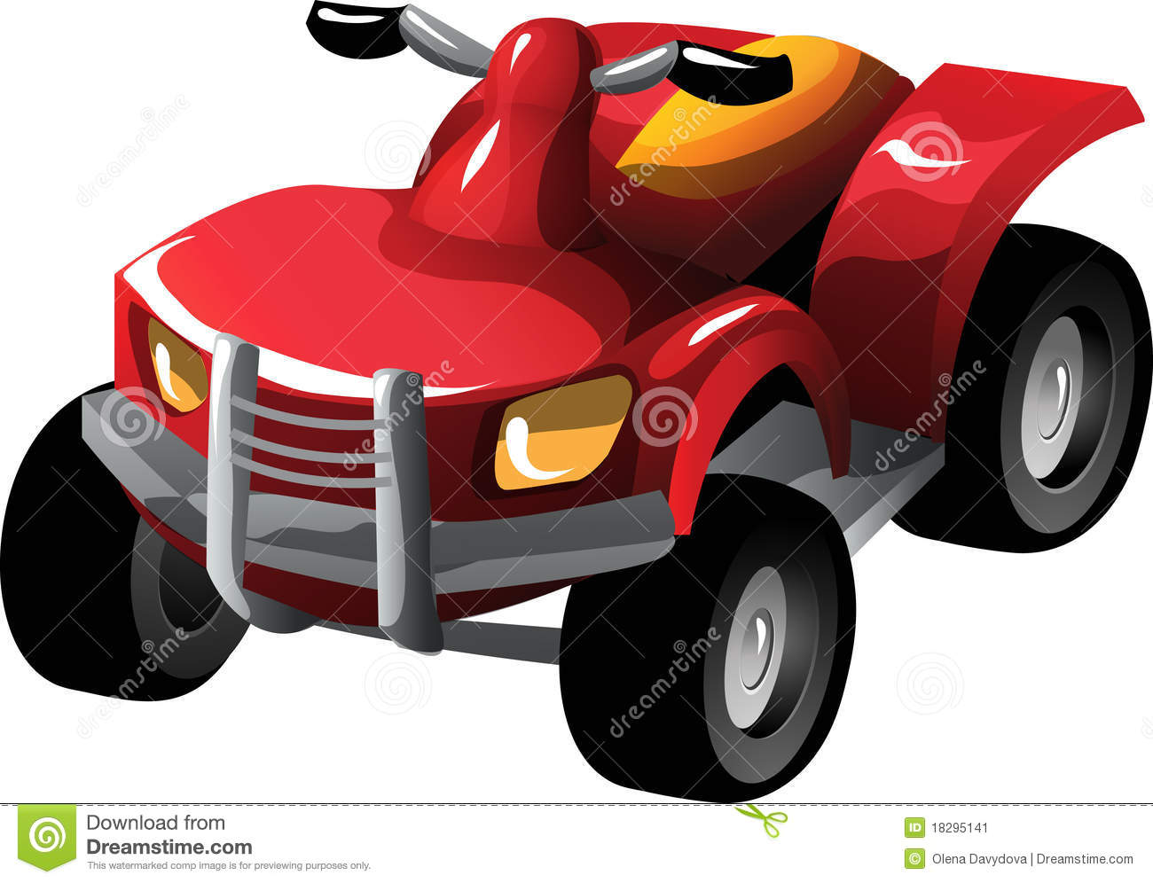 Cartoon Quad Bike Stock Image.
