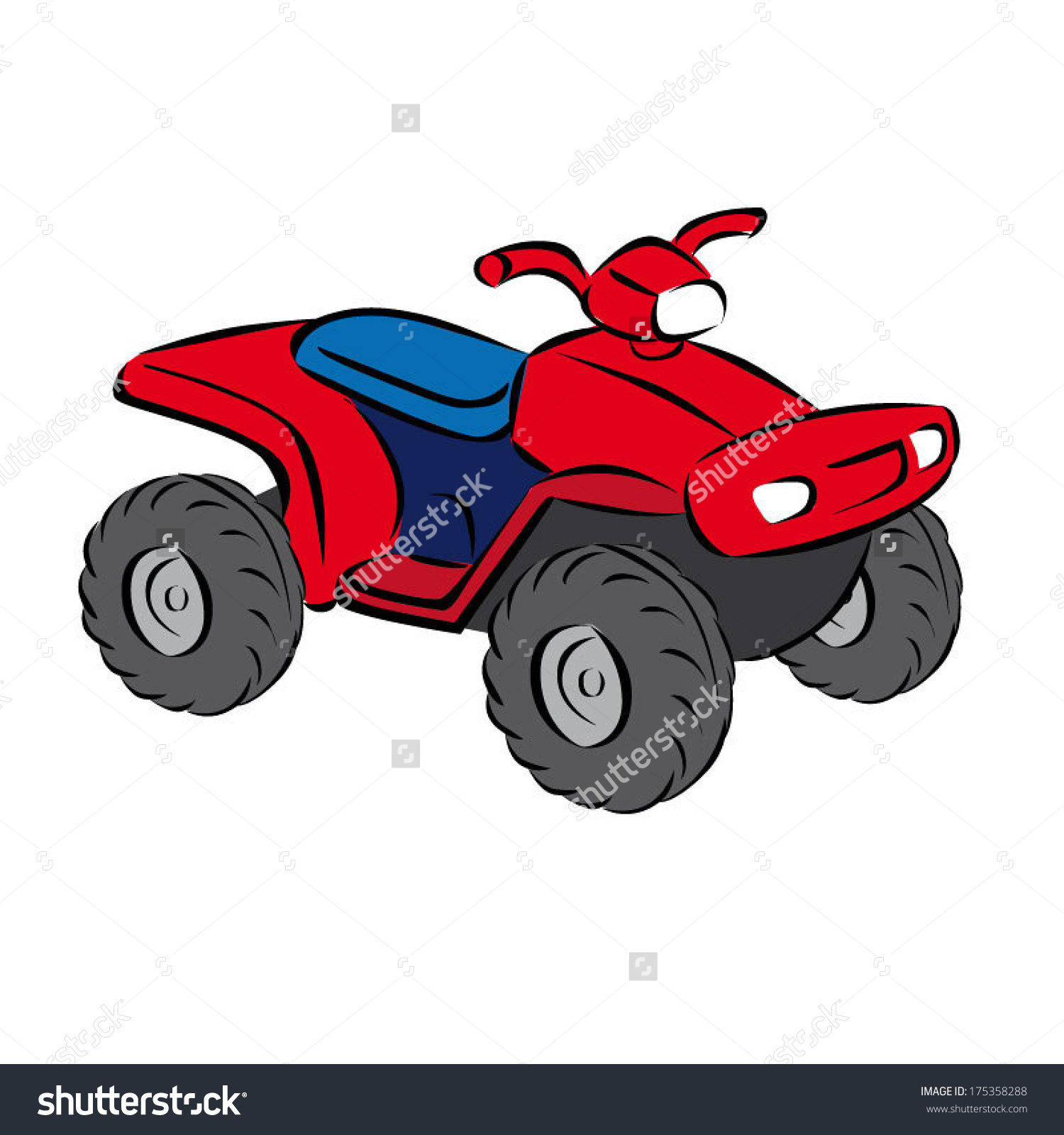 Colorful Cartoon Basic Open Quad Bike Stock Vector 175358288.