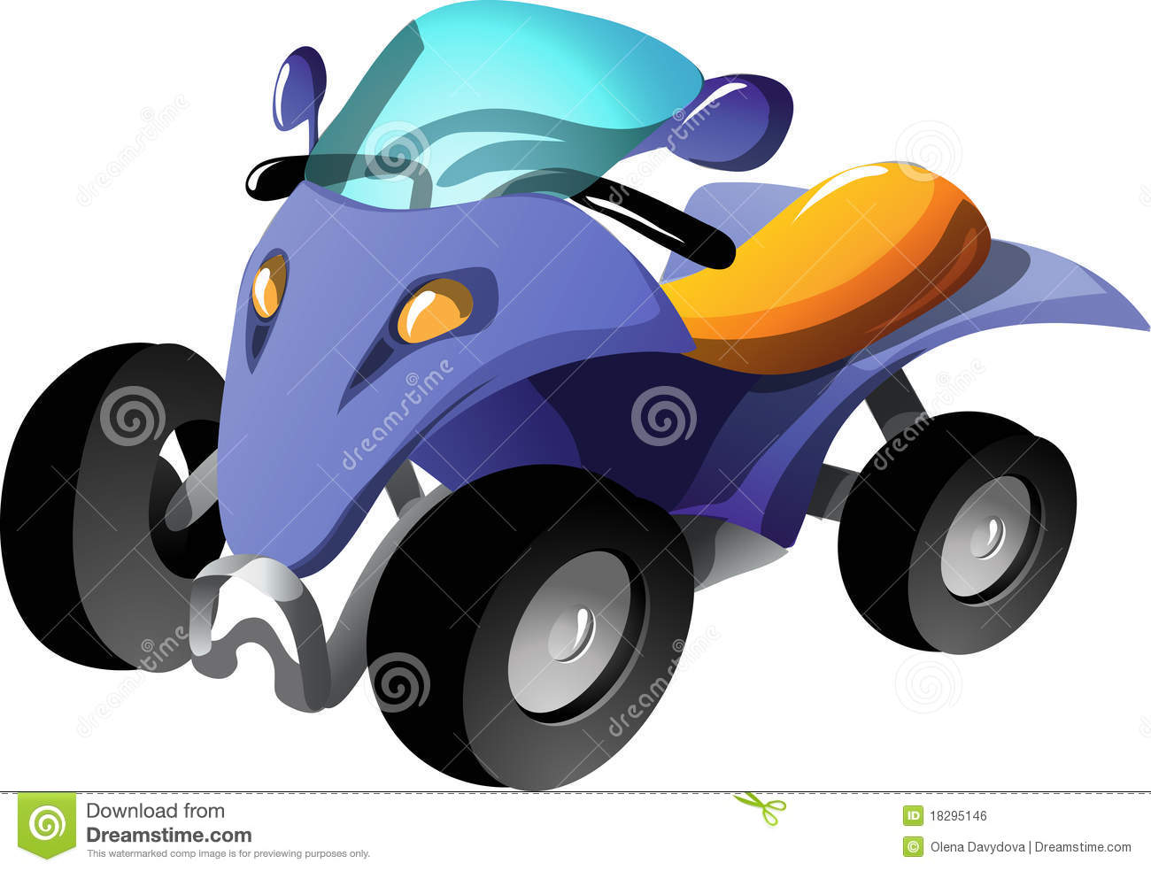 Quad Bike Stock Illustrations.