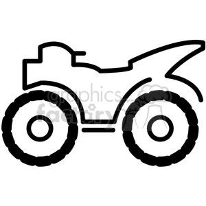 quad all terrain four wheeler vector icon . Royalty.