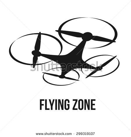 Race quadcopter logo clipart.