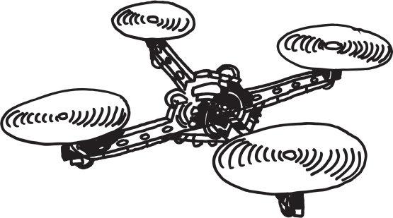 Quadracopter clipart transparent background.