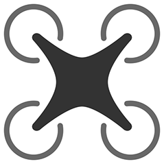 Race quadcopter logo clipart.
