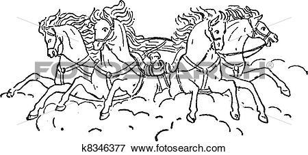 Clip Art of Quadriga vintage engraving k8346377.