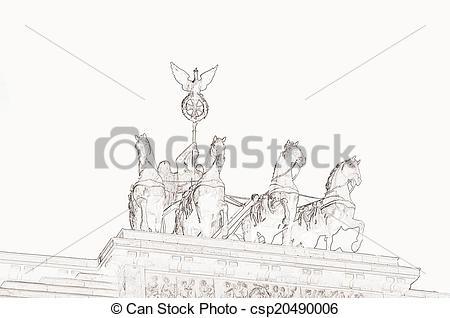 Stock Illustration of Quadriga Brandenburg Gate Berlin.