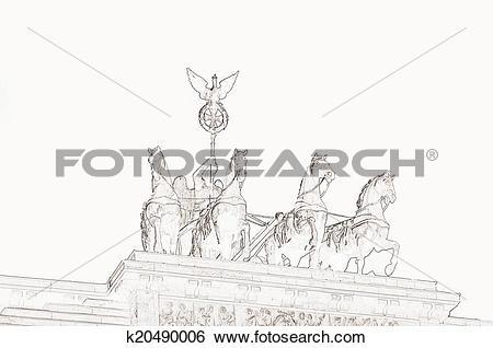 Stock Illustration of Quadriga Brandenburg Gate Berlin k20490006.
