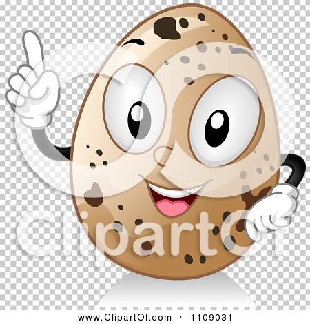 Clipart Quail Egg Mascot With An Idea.