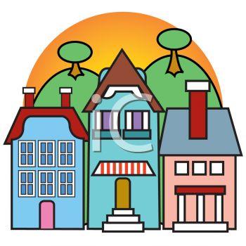 Cartoon of Quaint Shops.