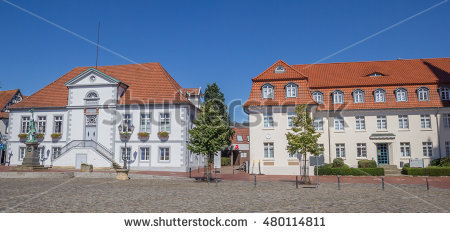 Row Townhomes Garages Stock Photo 68208475.