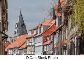 Stock Photographs of Half timbered house in the historical center.