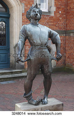 Stock Photo of Statue in front of the tax office of Quakenbrueck.