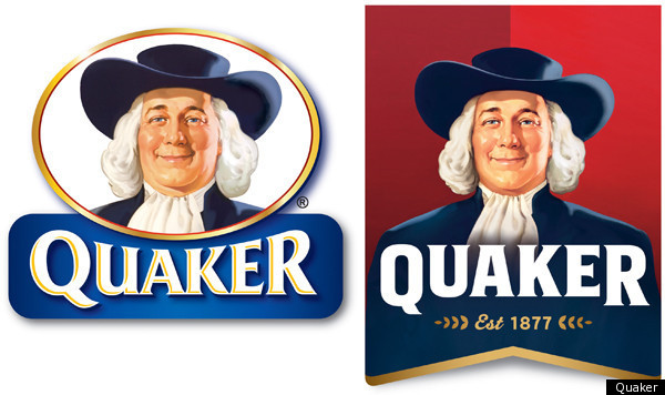 Quaker Oats Man \'Larry\' Slims Down In Redesigned Logo.