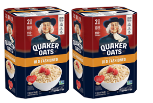 Details about 2 Pack Each 10 Lb Quaker Oats Old Fashioned Oatmeal, Total 20  Lbs Servings 220+.