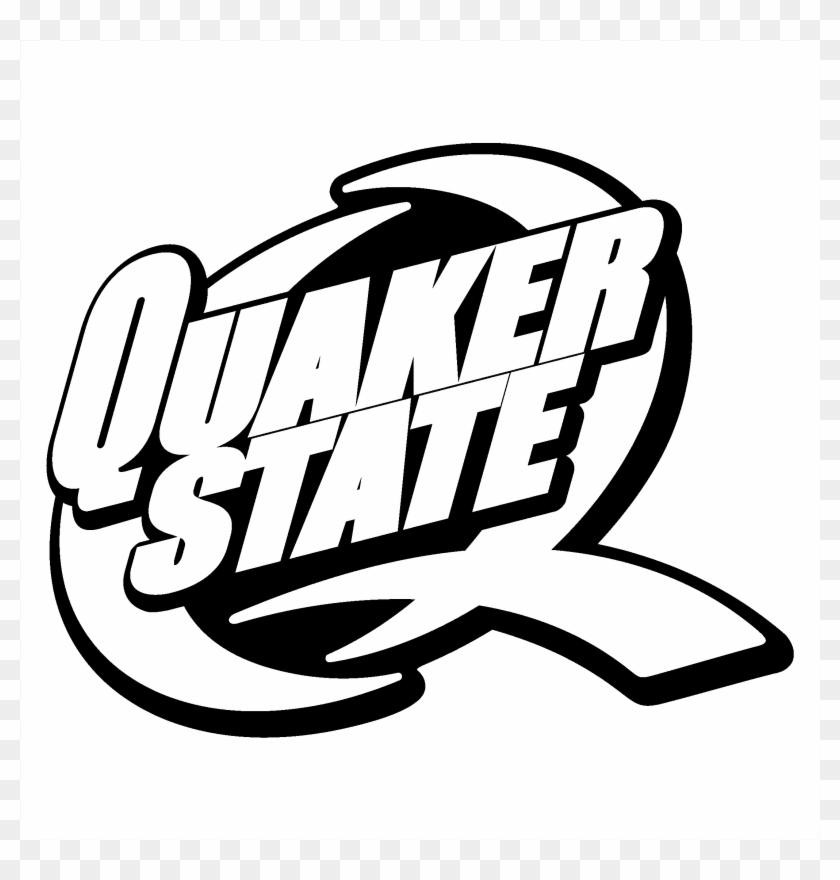 Quaker State Logo Black And White.