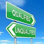 Qualification Stock Illustrations.