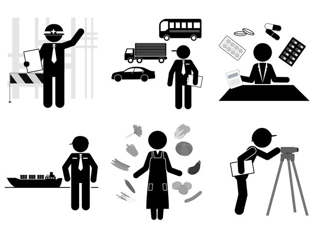 Illustrations material of various qualifications.