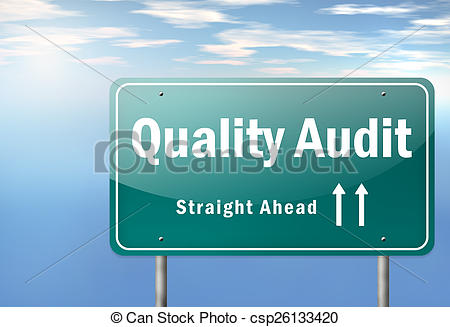 Clip Art of Highway Signpost Quality Audit.