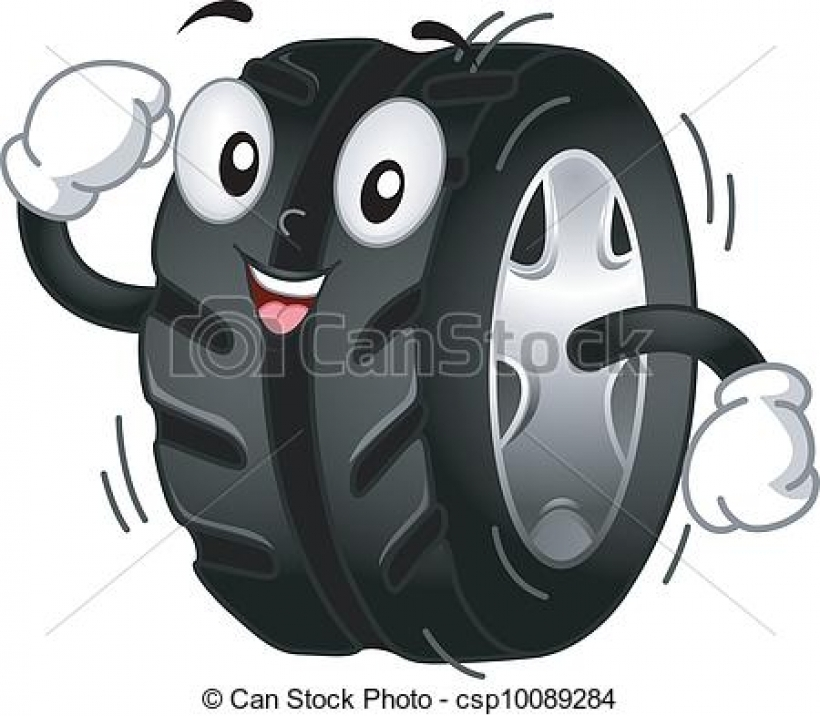 vector of tire mascot mascot illustration featuring a Collection.