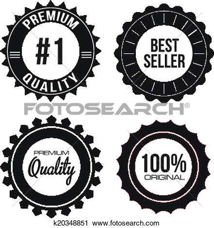 Clipart of Collection of Premium Quality Seals k20348851.