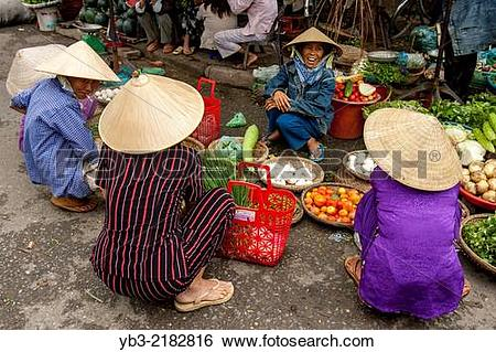 Stock Images of Colourful Street Market, Hoi An, Quang Nam.