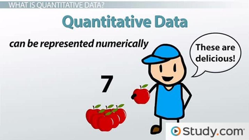 Qualitative data clipart.