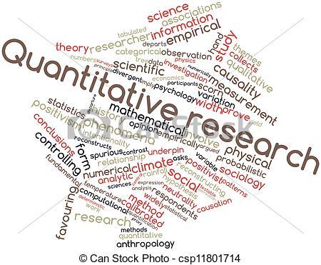 Clipart of Quantitative research.