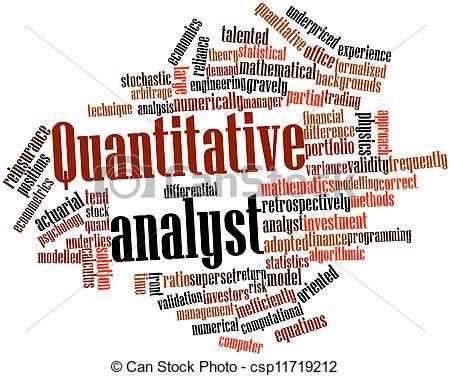 Clipart of Quantitative analyst.
