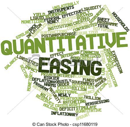 Clipart of Quantitative easing.
