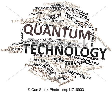 Stock Illustration of Quantum technology.