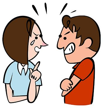 Quarrel Clip Art.