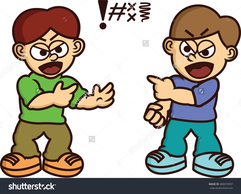 Men Quarreling Cartoon Illustration Stock Vector 406074937.