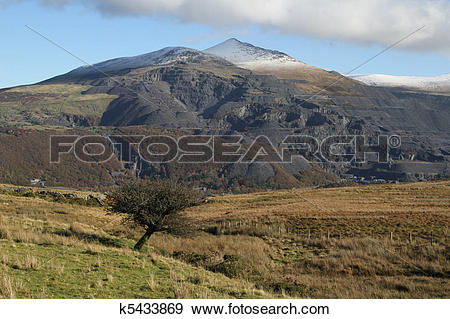 Stock Photograph of Quarried mountain. k5433869.