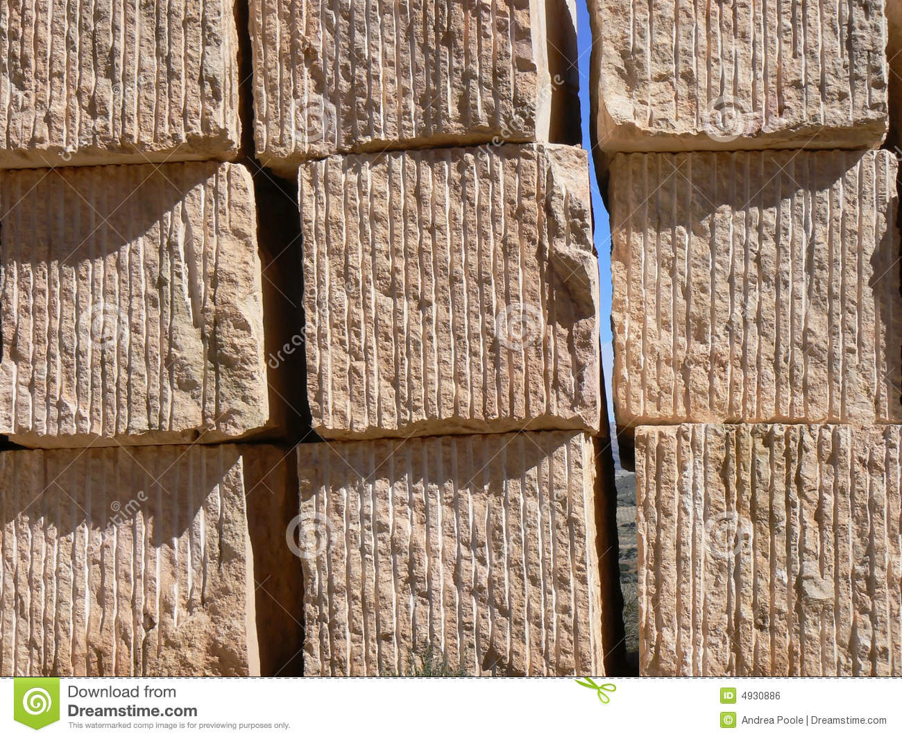 Quarried Stone Blocks Royalty Free Stock Image.