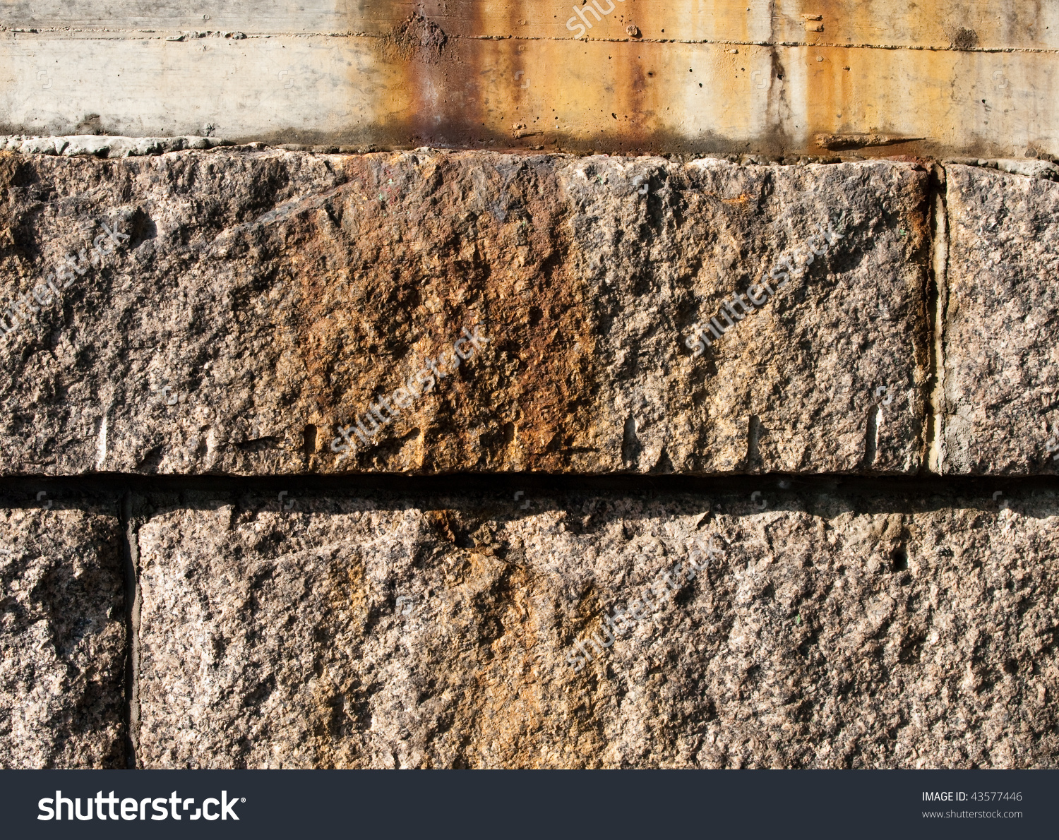 Closeup Photograph Of Cut /Quarried Granite Rock Texture. Used In.