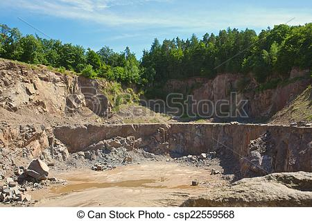 Stock Image of quarry.