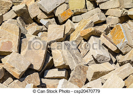 Picture of Sandstone, natural stone, quarry stone warehouse space.