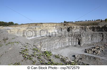 Stock Photographs of quarry wall scenery.