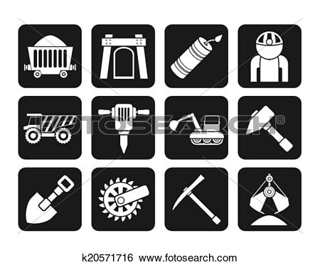Clip Art of Mining and quarrying industry icon k20571716.