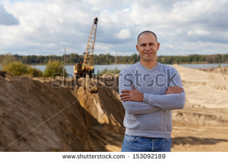 Quarry Man Stock Photos, Royalty.