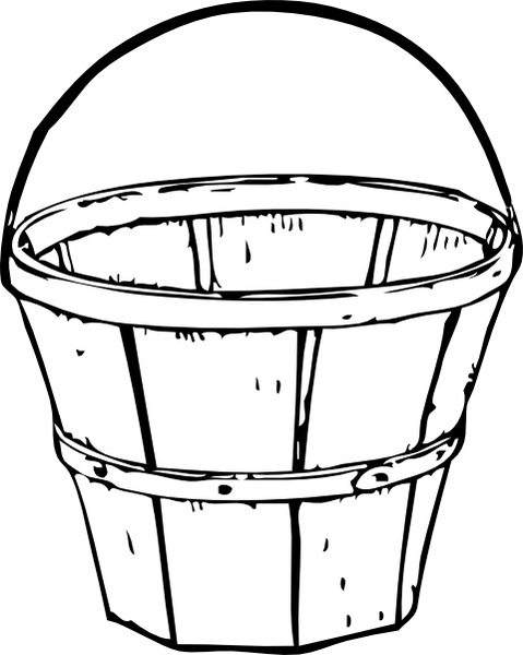 Quart Basket clip art Free vector in Open office drawing svg.