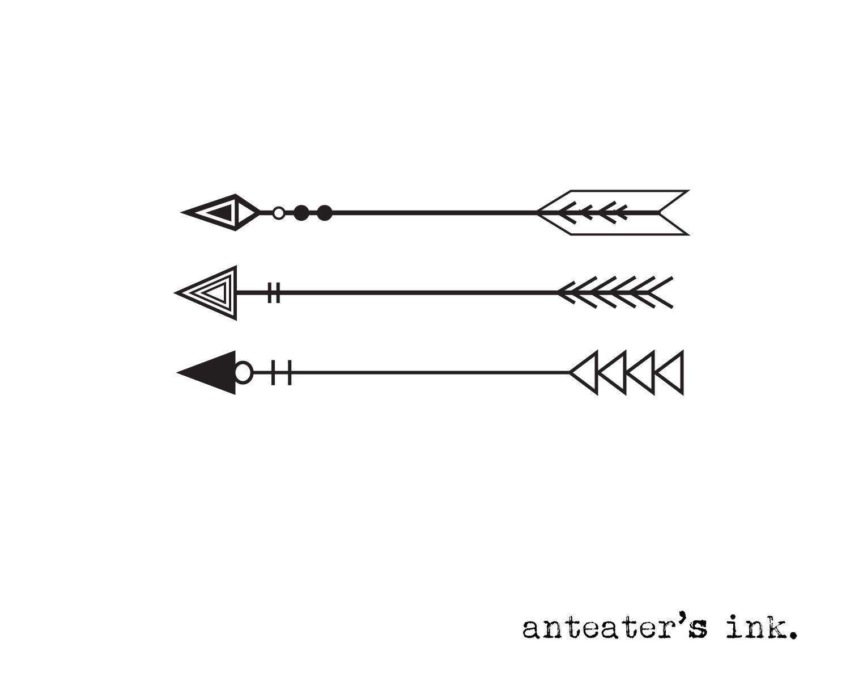 Three arrows tattoo.