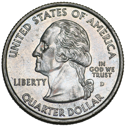 Quarter Tails Side Of Clipart.